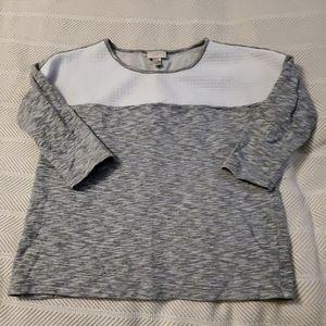 LOFT gray and white sweat shirt. Size medium.